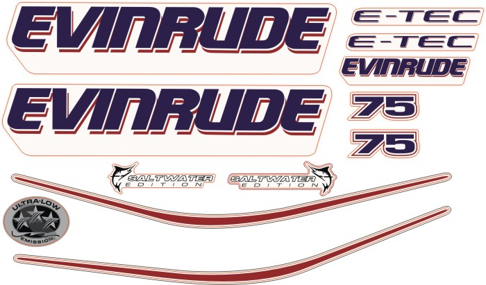 evinrude 75 Hp Sticker