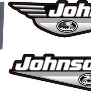johnson 25 Hp Outboard sticker etiket