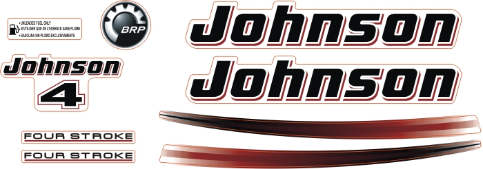 johnson 4 Hp Sticker