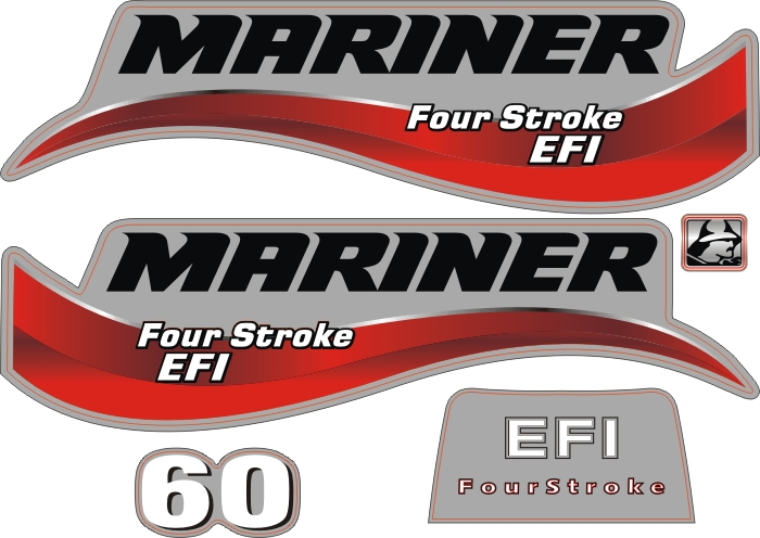 mariner 60 Hp Outboard sticker